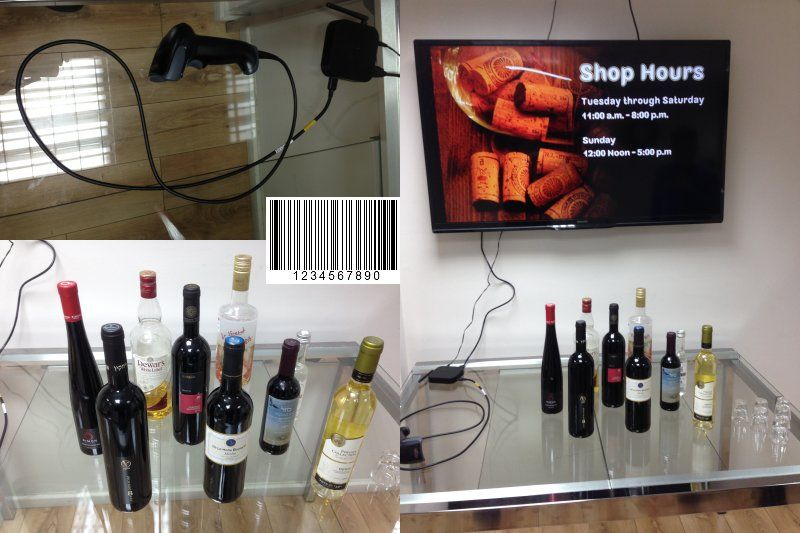 How to combine barcode with our digital signage software?