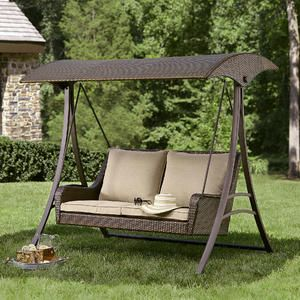 Parkside Resin Wicker Swing - Sears & Parkside Resin Wicker Swing - Sears | Sewing | Pinterest | Patio ...