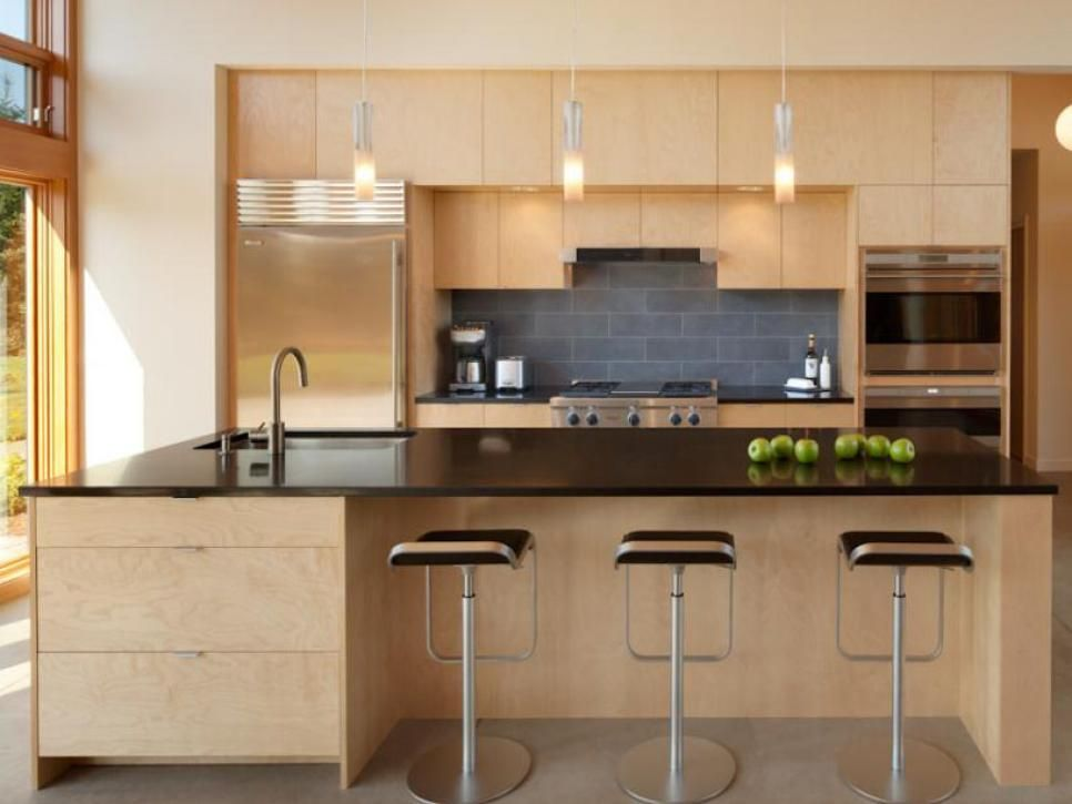 This Beautiful Modern Kitchen Features Sleek Architectural Lines  Interesting Small Straight Kitchen Design Inspiration