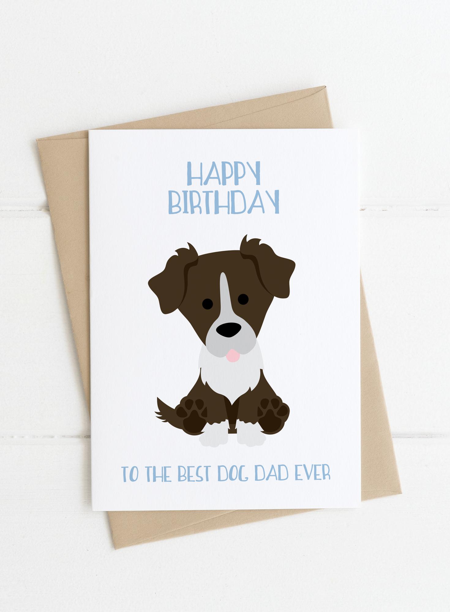 Dog Dad Birthday Card