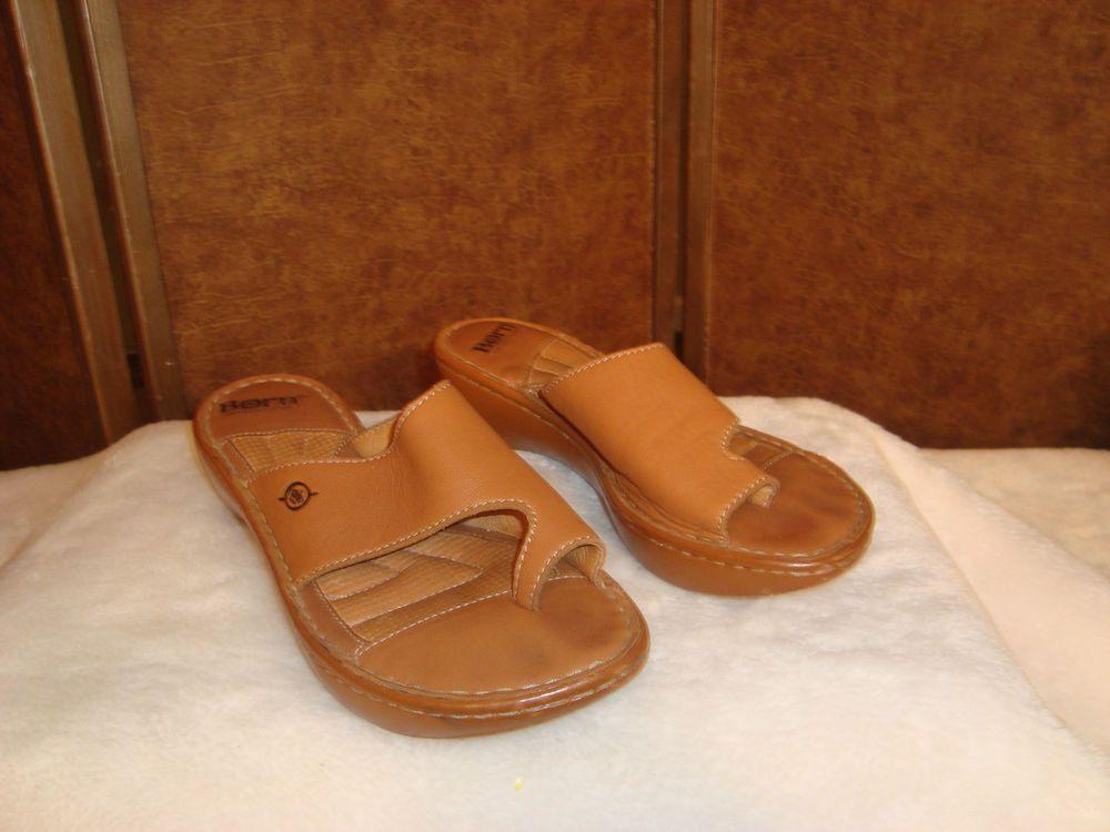 Nice Bjorn Sz 7 US 38 EU Brown Leather Big Toe Strap Sandals