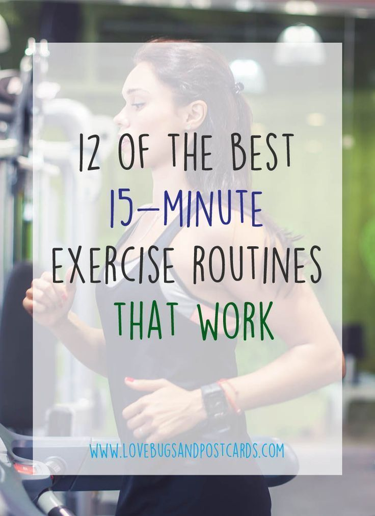 12 of the best 15 minute exercise routines that work