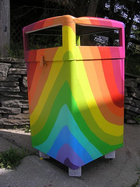 Image result for rainbow garbage litter