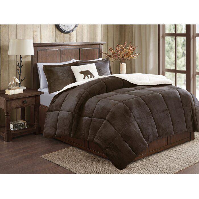 Alton Plush To Sherpa Comforter Set In 2021 Brown Comforter Bedroom Bed Comforter Sets Brown Comforter