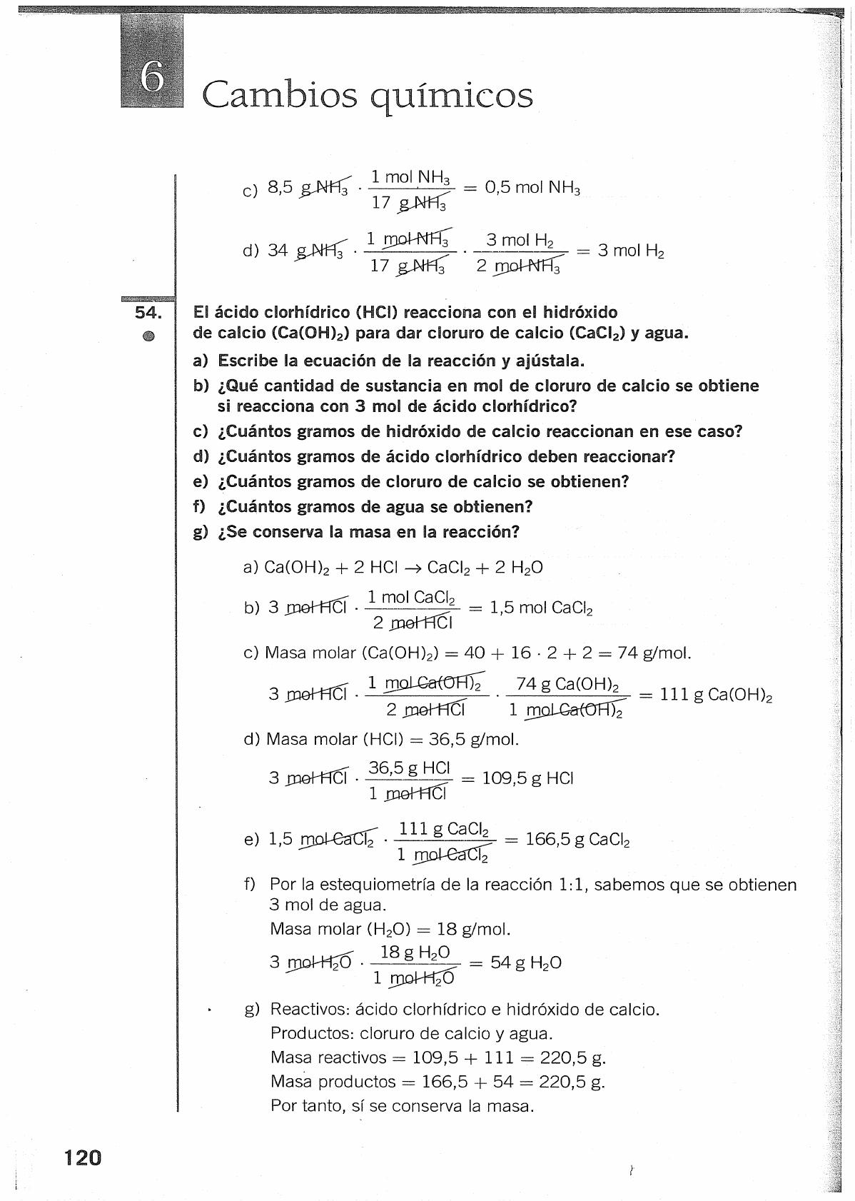 Solucionario Fisica Y Quimica 3 Eso Santillana Química Física Fisicoquimica