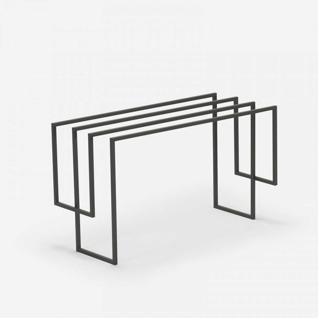 Nendo, 5200mm stool from the Thin Black Lines series