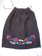 Beautiful Antique Eastern European Hand Embroidered Folk costume Apron