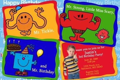 Personalized Mr Men Invitation | eBay