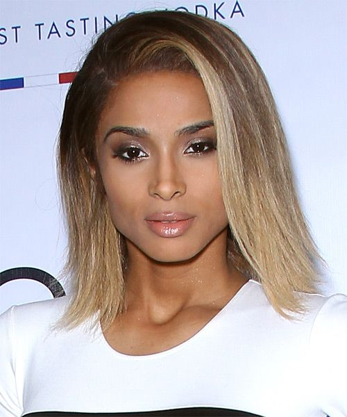 Ciara Medium Straight Hairstyle Ciara Hair Straight Hairstyles Ciara Hair Color