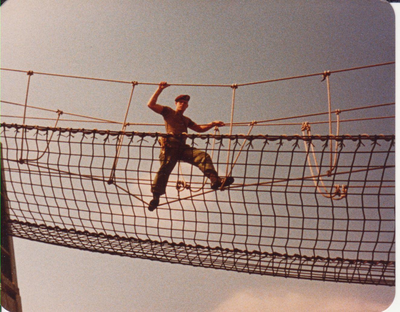 Rope bridge.