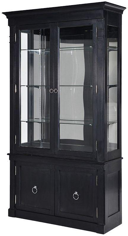 Kensington Black 2 Door Display Cabinet | Door displays Lowes storage cabinets and Display cabinets & Kensington Black 2 Door Display Cabinet | Door displays Lowes ...