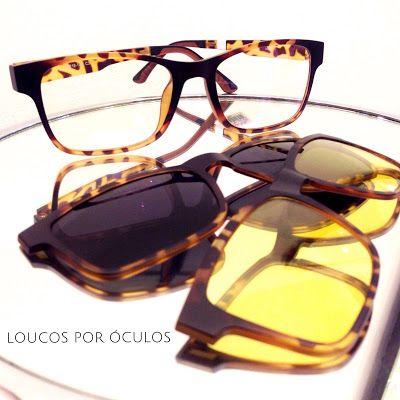 Loucos por Óculos  Clip On 3 em 1 - r  290,00   Armações de Fibra de ... bacd1cff5b