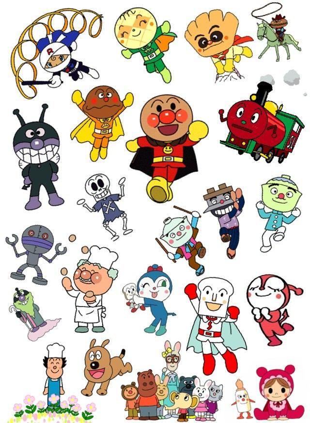 Anpanman Doodles. キャラクター