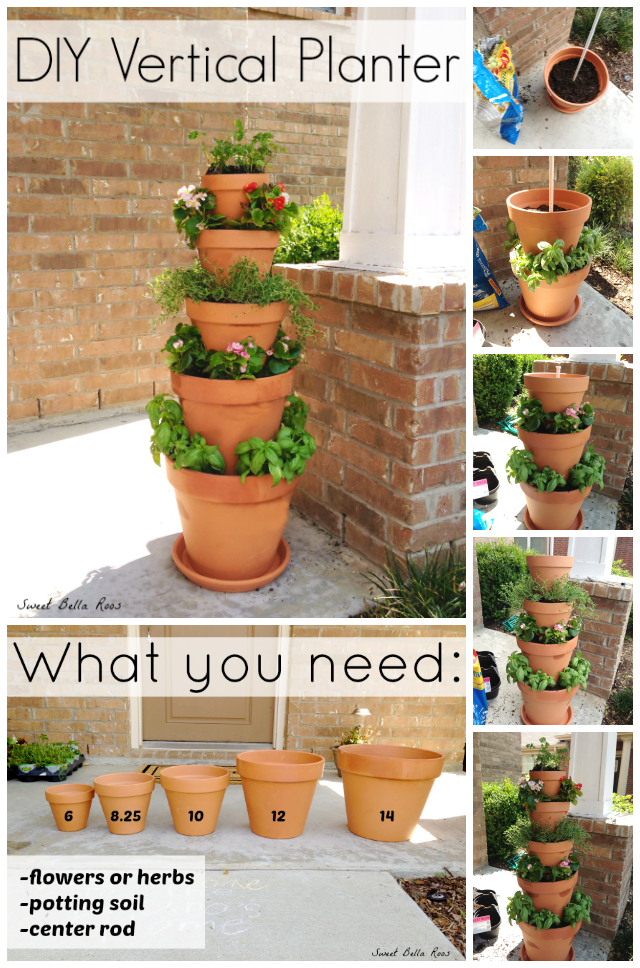 Good DIY Vertical Planter  Great Option For An Herb Garden If Low On Space! Can  Also Add Address Numbers For Front Of House Decor.