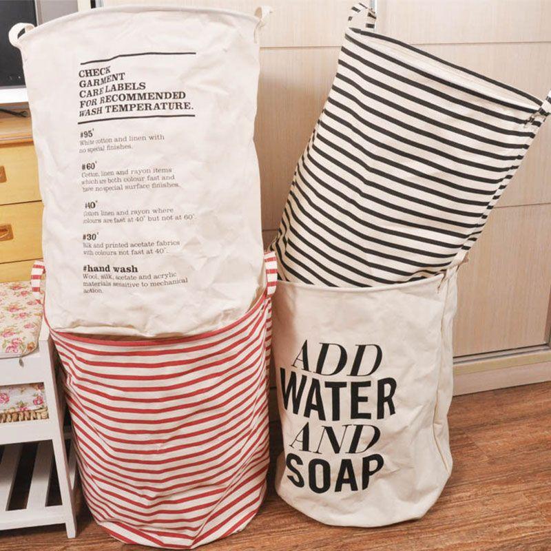 Aliexpress com buy new foldable unique cotton linen washing clothes laundry basket bag hamper