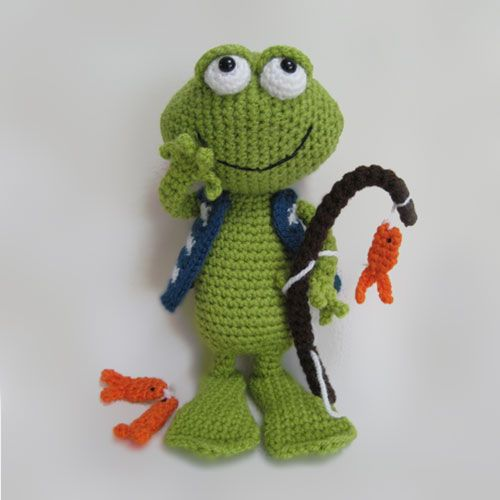 Frog Jimmy amigurumi pattern by Millionbells | Frösche, Häkeln und Ideen