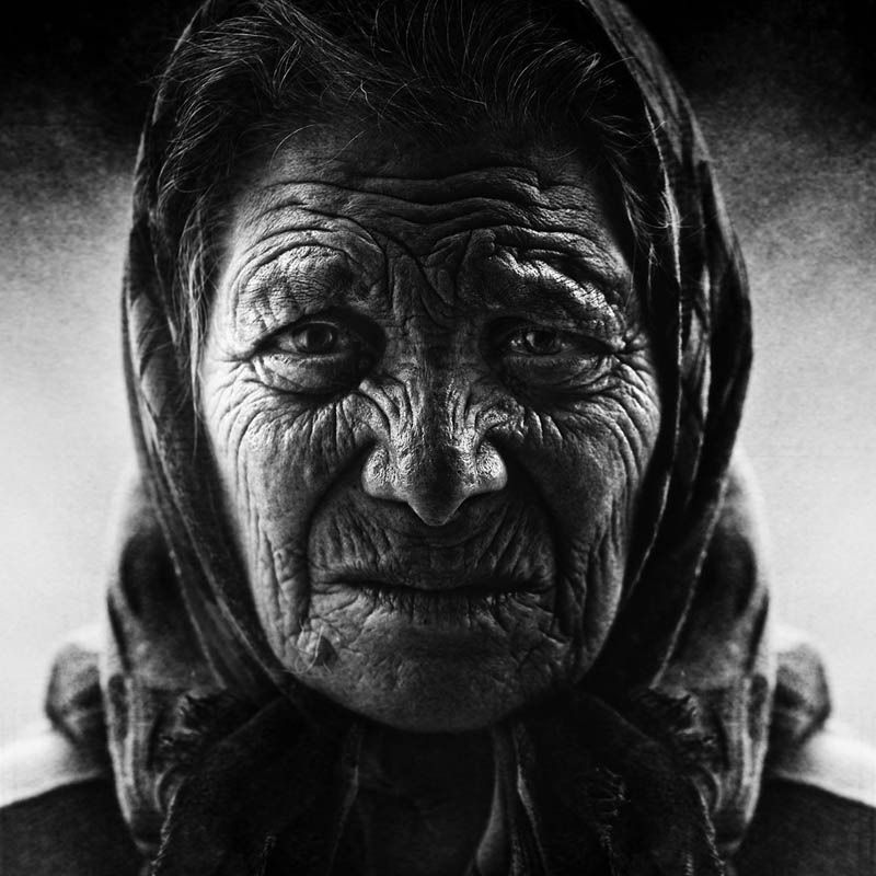 Homeless black and white portraits lee jeffries 4