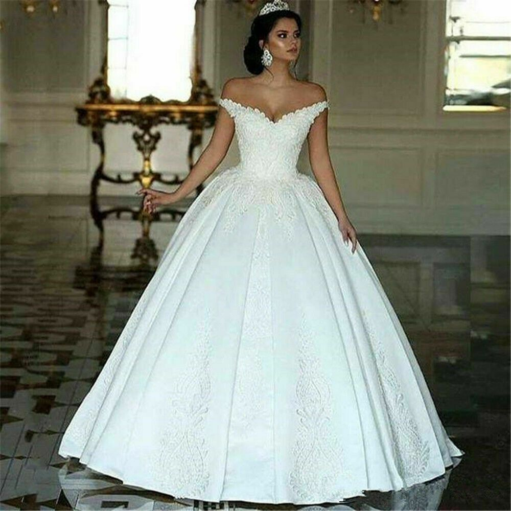 ebay ad) 2019 dubai arabic wedding dresses lace appliques