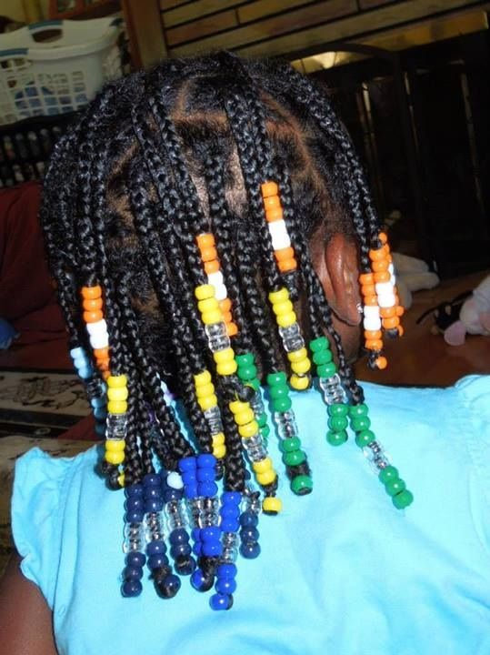 Rainbow Box Braids With Beads Baby Girl Hair Toddler