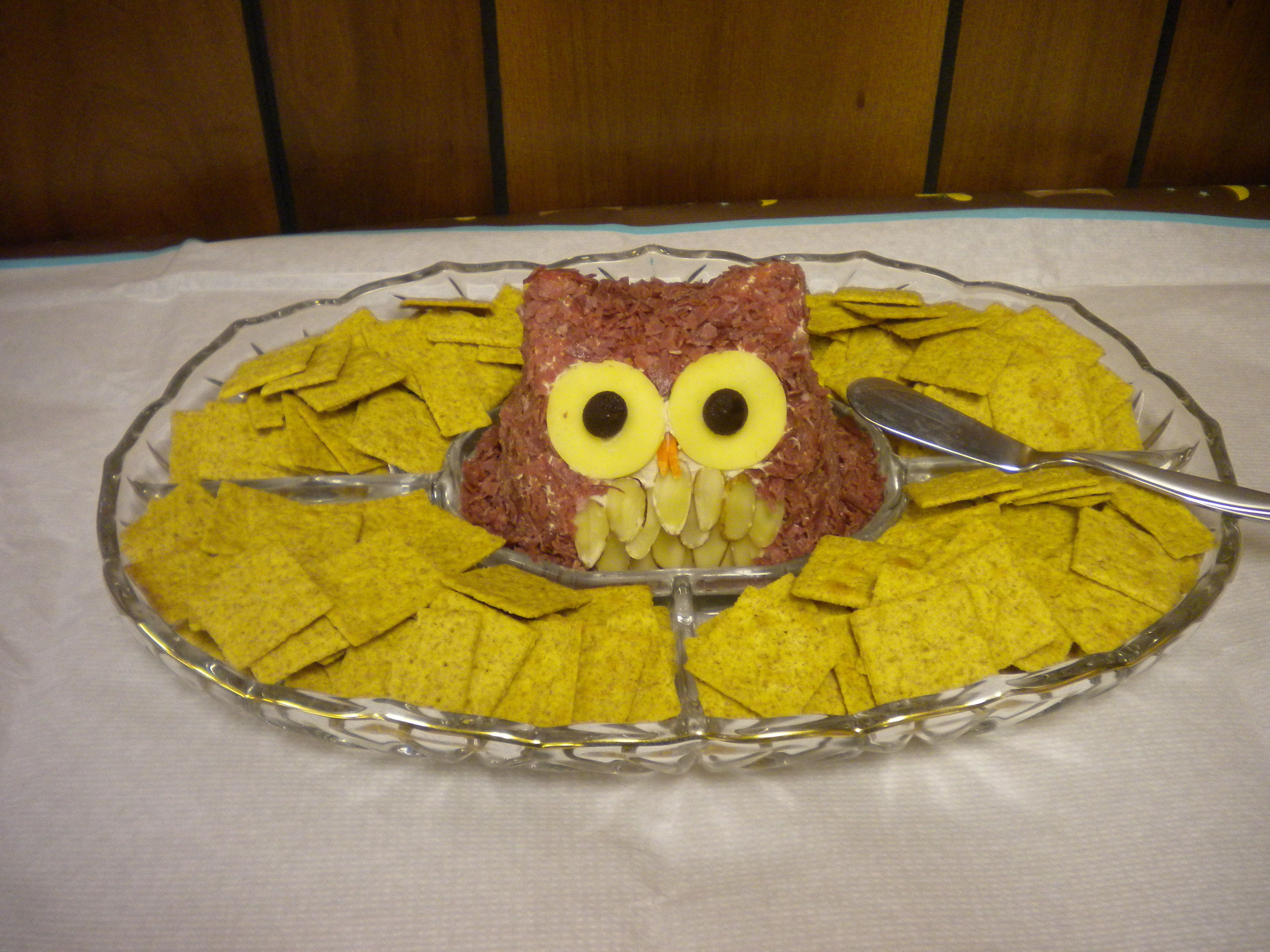 Cheese Ball For An Owl Themed Baby Shower Owl Baby Shower Theme