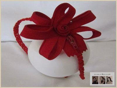 Felpa hecha a mano con cremallera roja