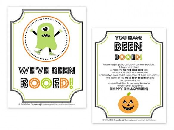 photo regarding Booed Signs Printable named Free of charge Printable BOO Signal Layouts Halloween Boo indication