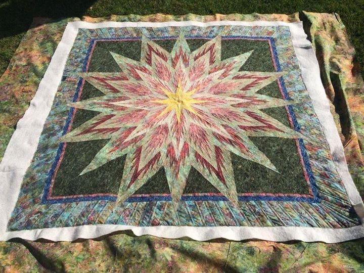Feathered Star, Quiltworx.com, Made by CI Jan Mathews.