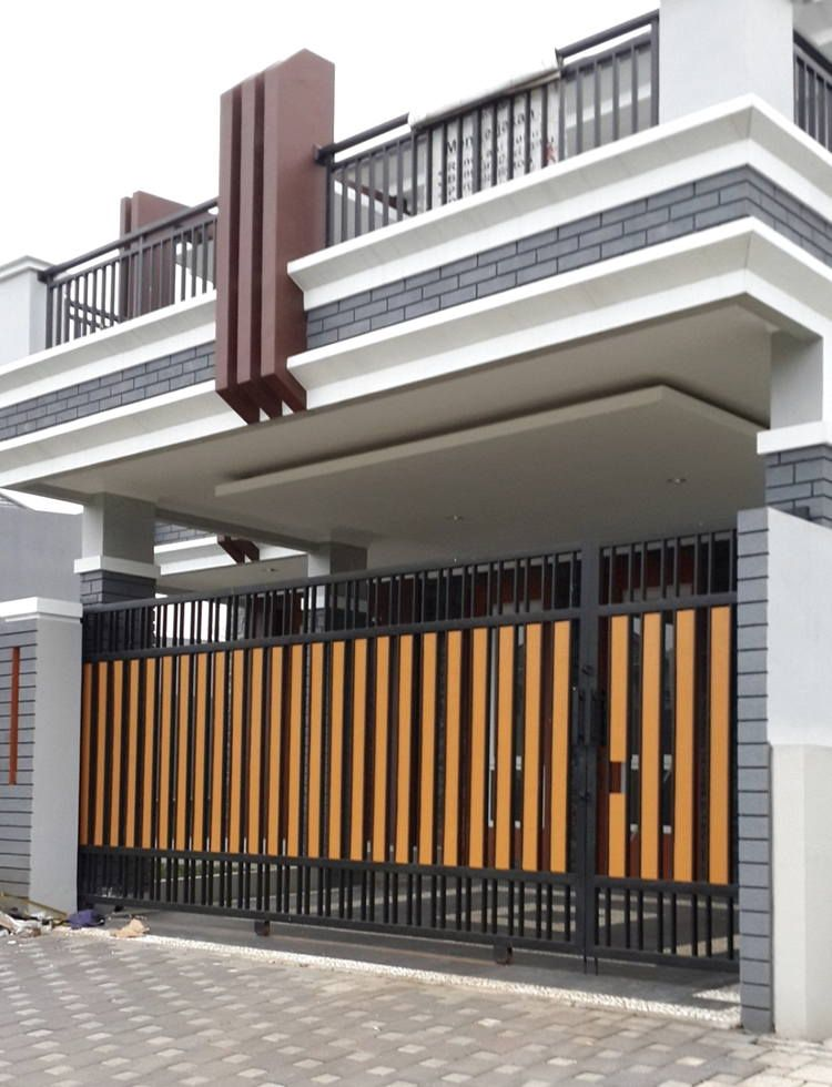 Model Pintu Pagar Minimalis Besi Dorong Check More At  Https://space-made.com/994/pintu-pagar-minimalis | Eksterior Modern,  Arsitektur, Minimalis