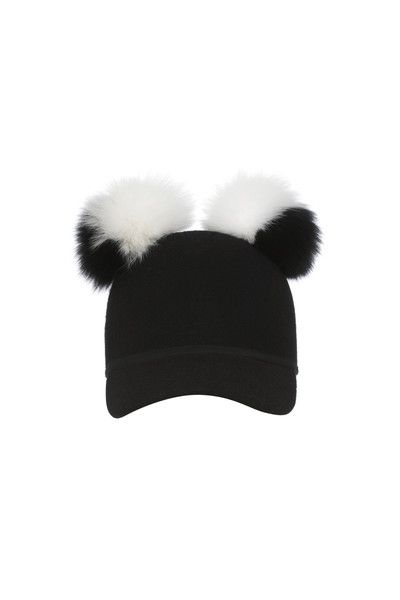 2c8ff65cd8ba9c Charlotte Simone's sass cap with fox fur poms | Style Muse | Fashion ...