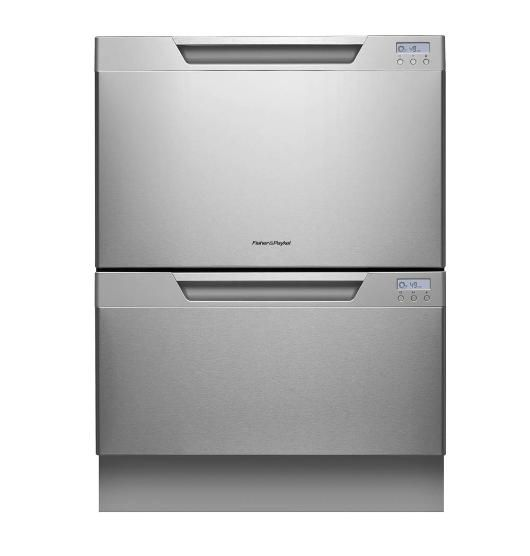 Fisher Paykel 60cm Double Dishdrawer Two Drawer Dishwasher Quiet Dishwashers Drawer Dishwasher