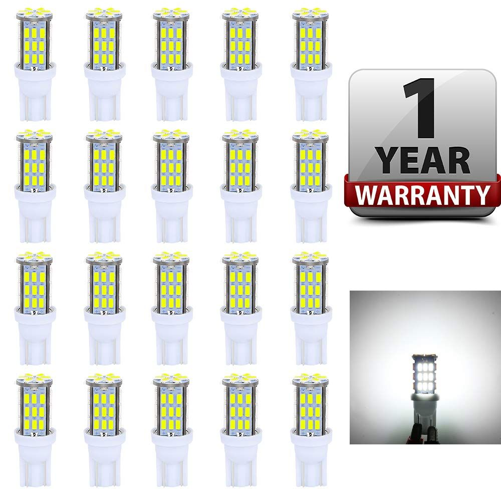 Antline T10 921 194 168 Led Bulbs White 20 Packs Super Bright 3014 42 Smd Led Replacement 12 Volt Rv Camper Trailer Boat T Camper Trailers Rv Campers Led Bulb
