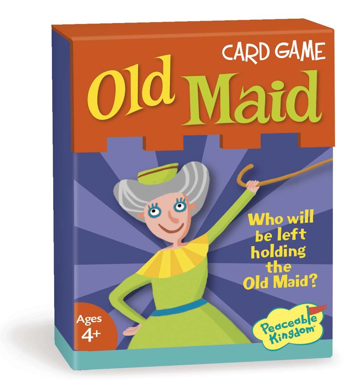 Peaceable Kingdom Old Maid Card Game All But One Card Has A Matching Pair Everyone Has Cards And Takes T Card Games For Kids Classic Card Games Classic Card