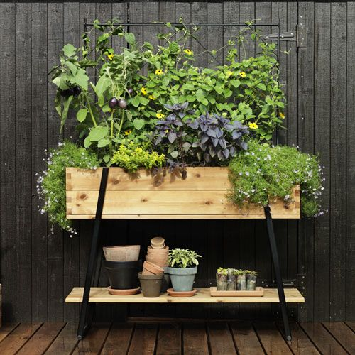 "Kitchen Bench Herb Garden: ""Growing Bench"" From Hasselfors Garden."