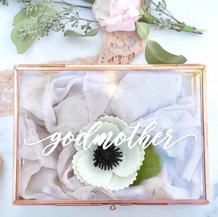 Godmother gift gift for grandparents glass jewelry box