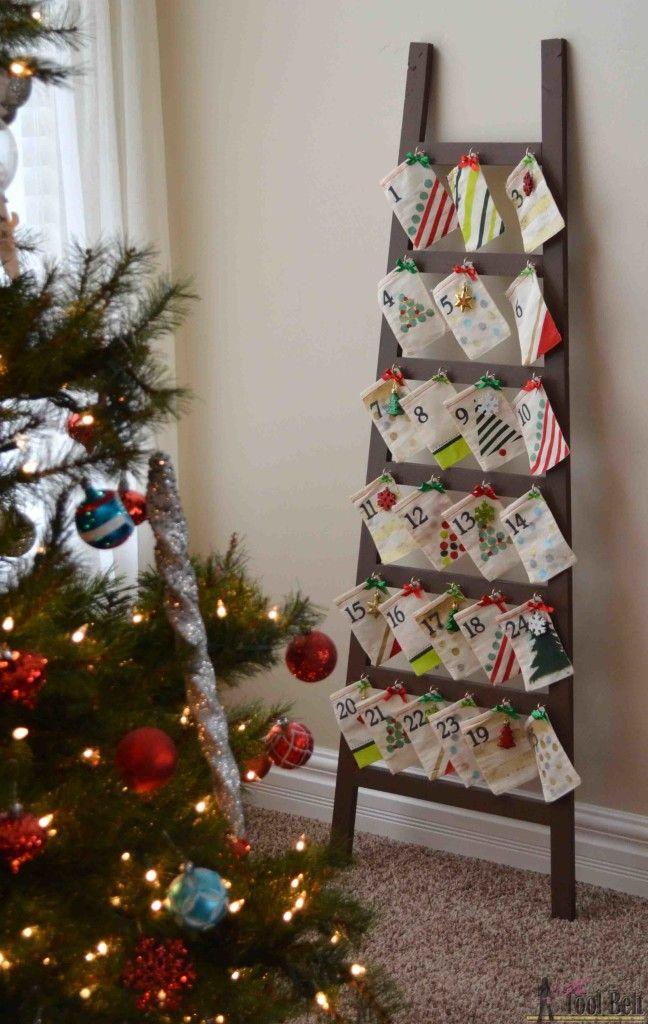 Ladder Advent Calendar | Christmas card holder | Pinterest ...
