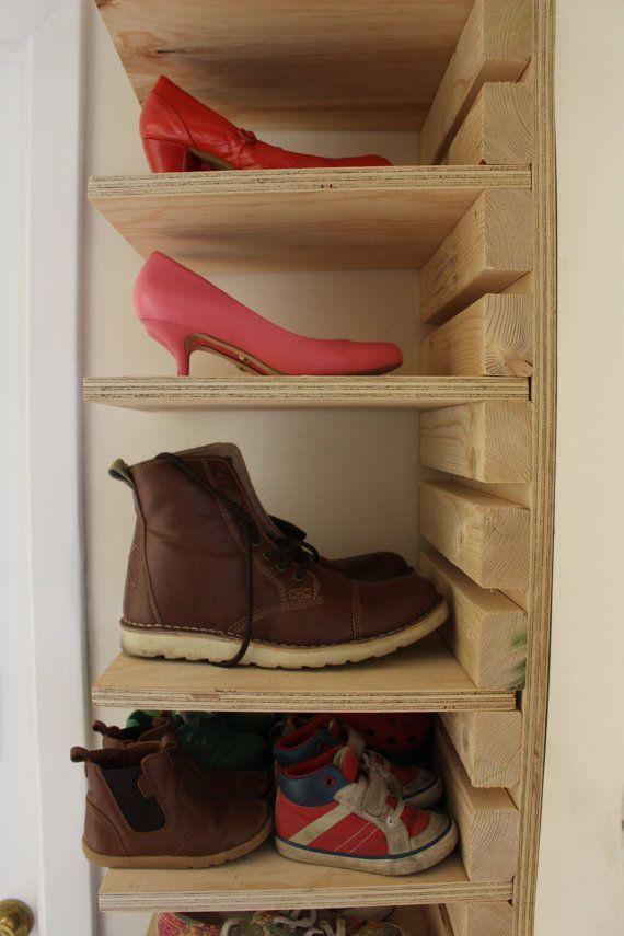 Items Similar To Shoe Rack On Etsy Adjustable Wooden Shoe Rack Made To Order 10 Shelf And 22 Slat Adjustable In 2020 Wooden Shoe Racks Diy Shoe Rack Wooden Shoes