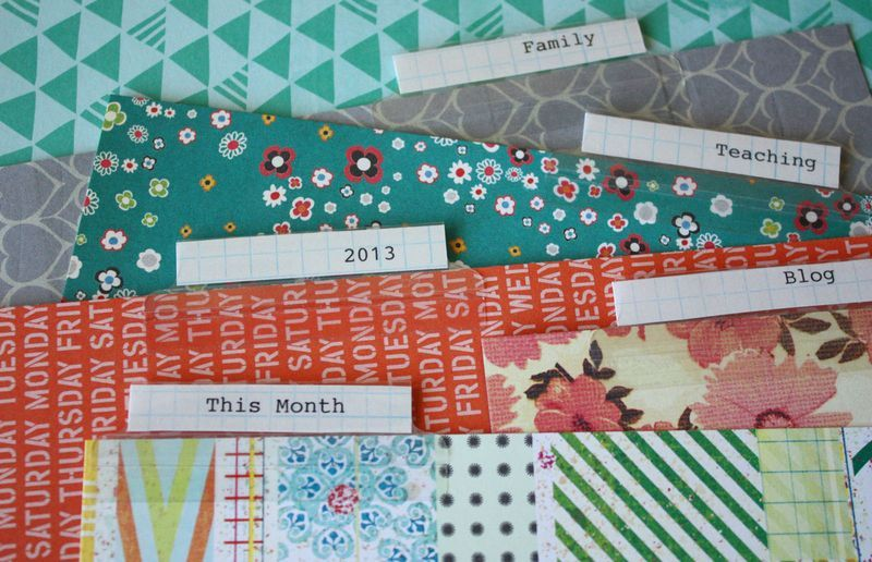 Making your own planner dividers with stick-on tabs and cute paper - folder dividers tabs
