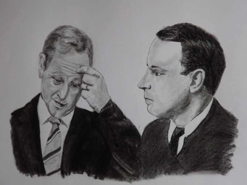 Pádraig pearse and enda kenny in a pencil drawings i am going to call what the f what the fk pencil drawing on on a2 135gms
