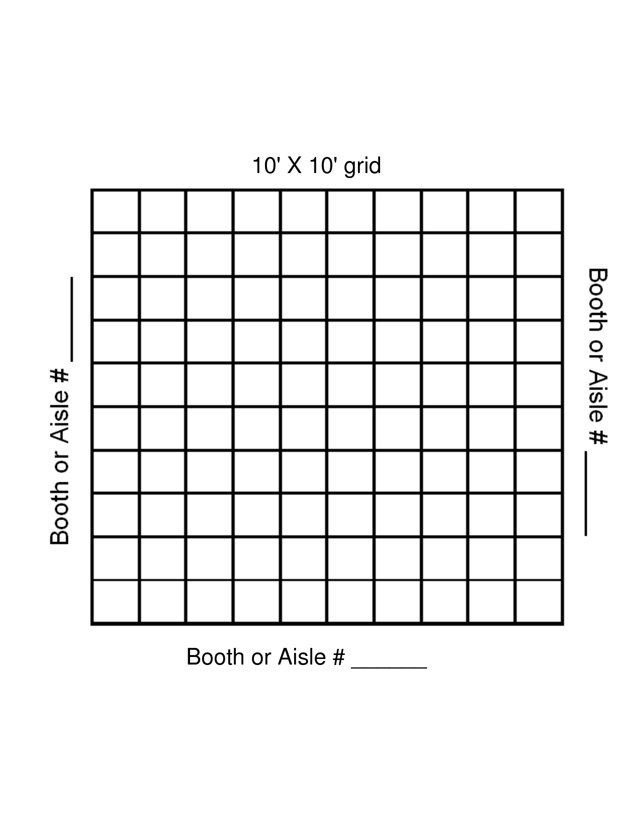 Graph Paper Template 10 By 10 Grid