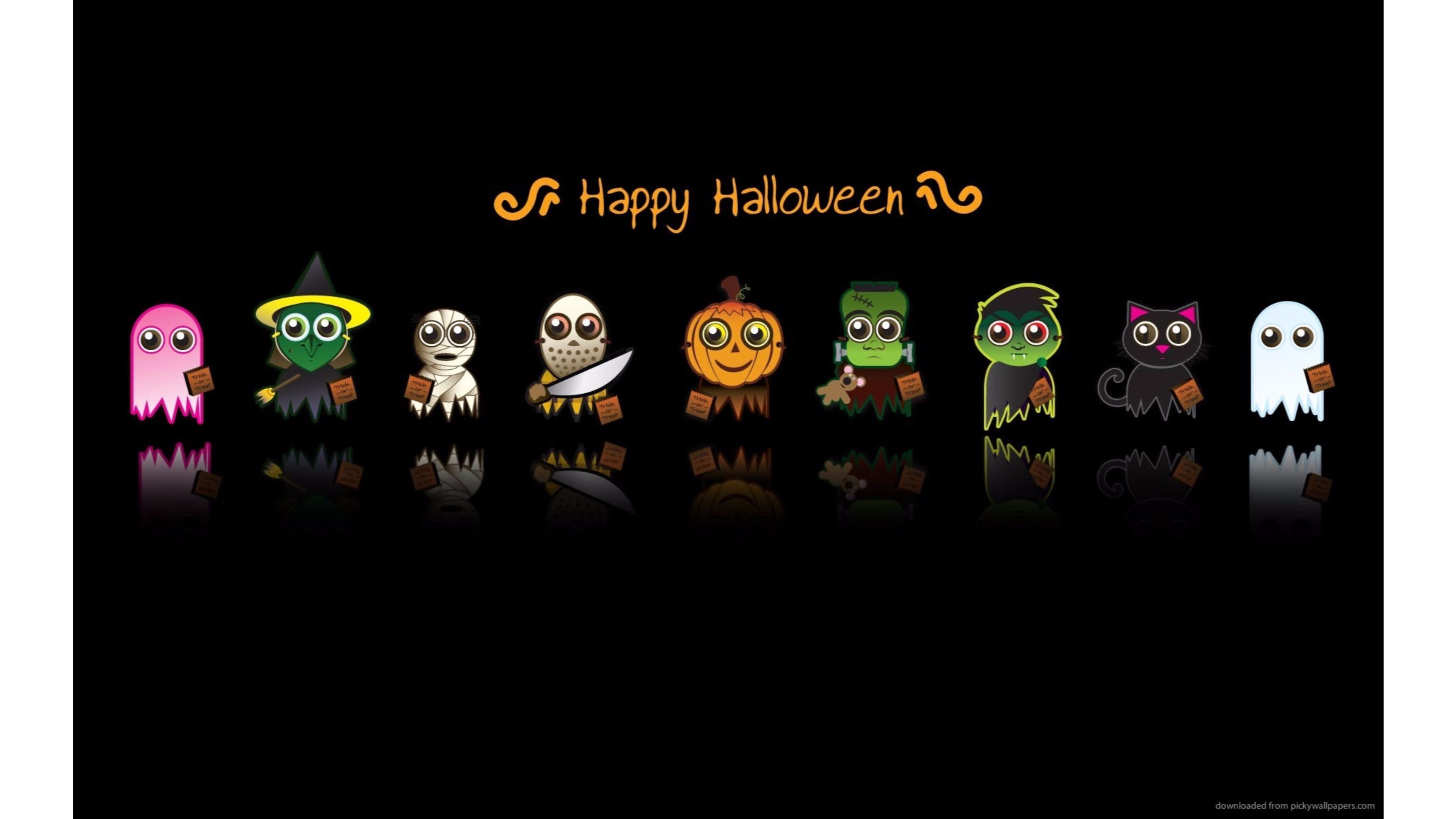 send a cool happy halloween wallpaper to your parents friends they will be happy - Cool Happy Halloween Pictures