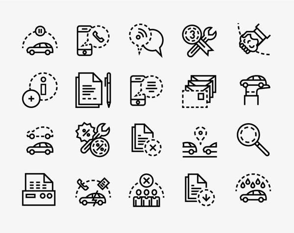 Direct seguros by forma and co via behance logos icons for Oficinas de direct seguros