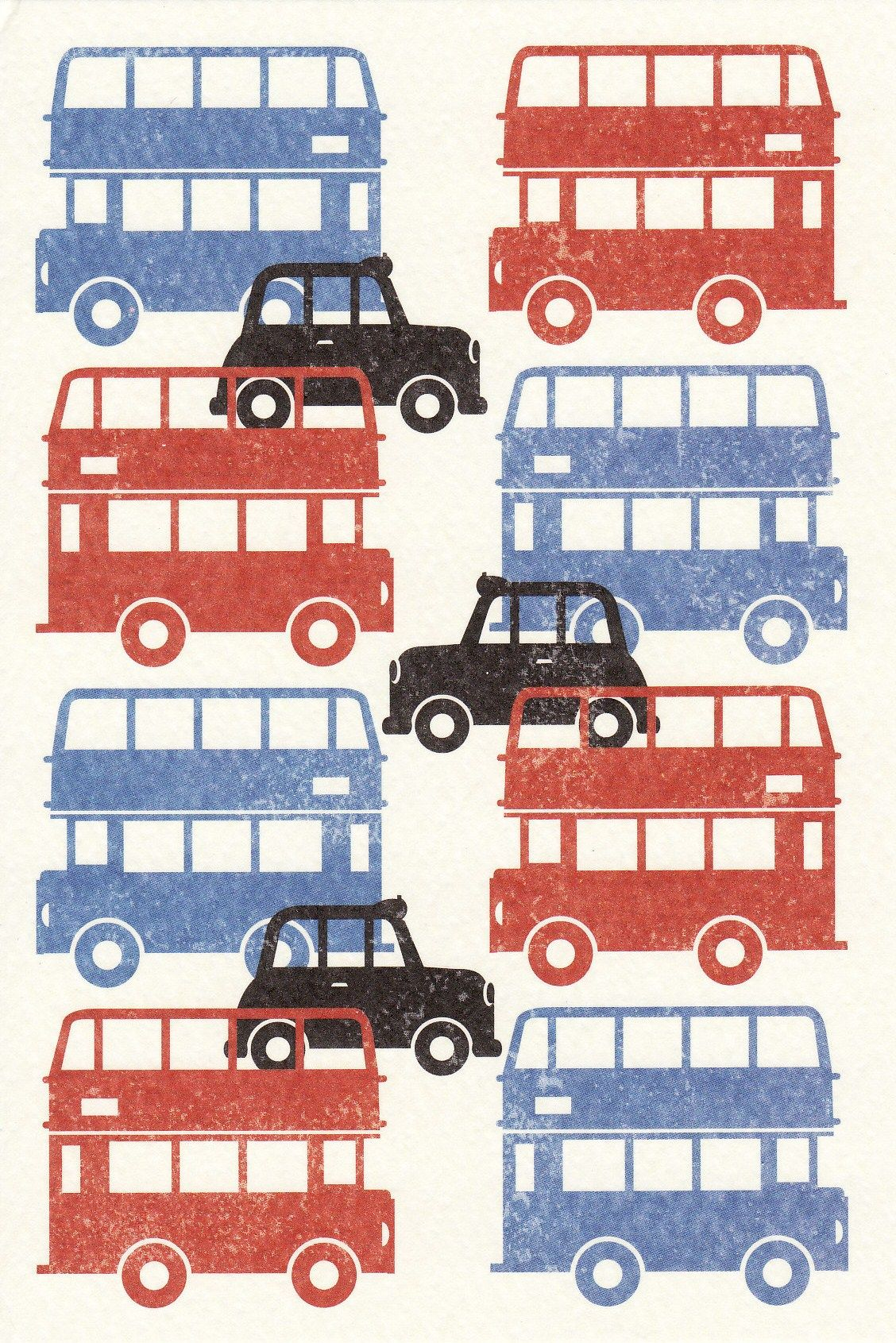 London Buses And Black Cabs British Travel 絵本 ロゴ