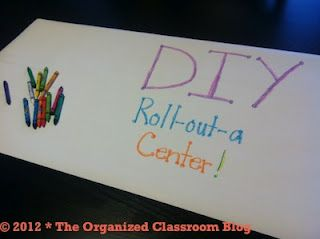 Classroom DIY: DIY Roll-Out-A Center!