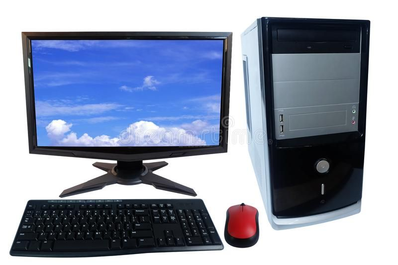 Desktop Computer Pc Set Monitor Keyboard And Wireless Mouse Isolated On White Affiliate Set Monitor Pc Desktop Computers Wireless Mouse Pc Computer