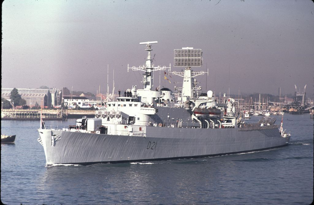 Hms Norfolk D21 County Class Batch 2 Guided Missile Destroyer Royal Navy Naval Warship