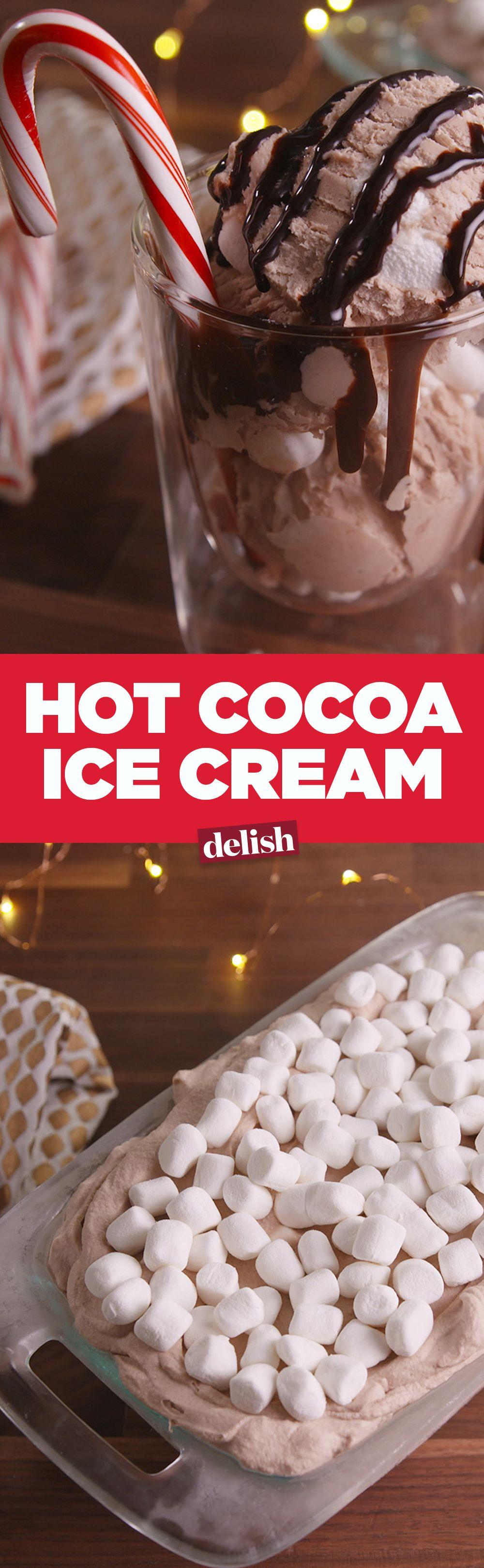 Hot Cocoa Ice Cream Recipe Ice Cream Recipes Homemade Ice Cream Desserts