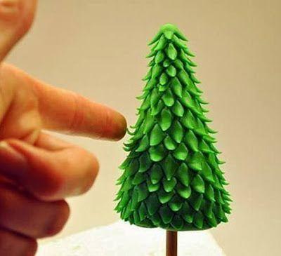 lodijoella: Haz un arbolito de navidad hecho con arcilla