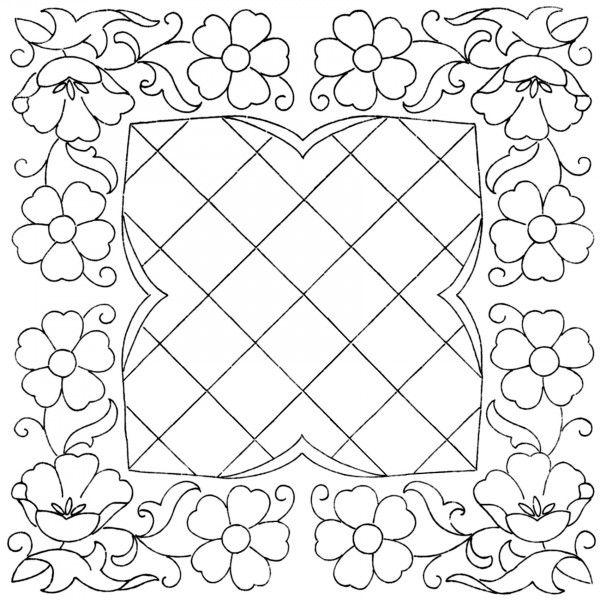 Briggs-Transfer-4   Для квилта: Полевые цветы   Pinterest   Bordado ...