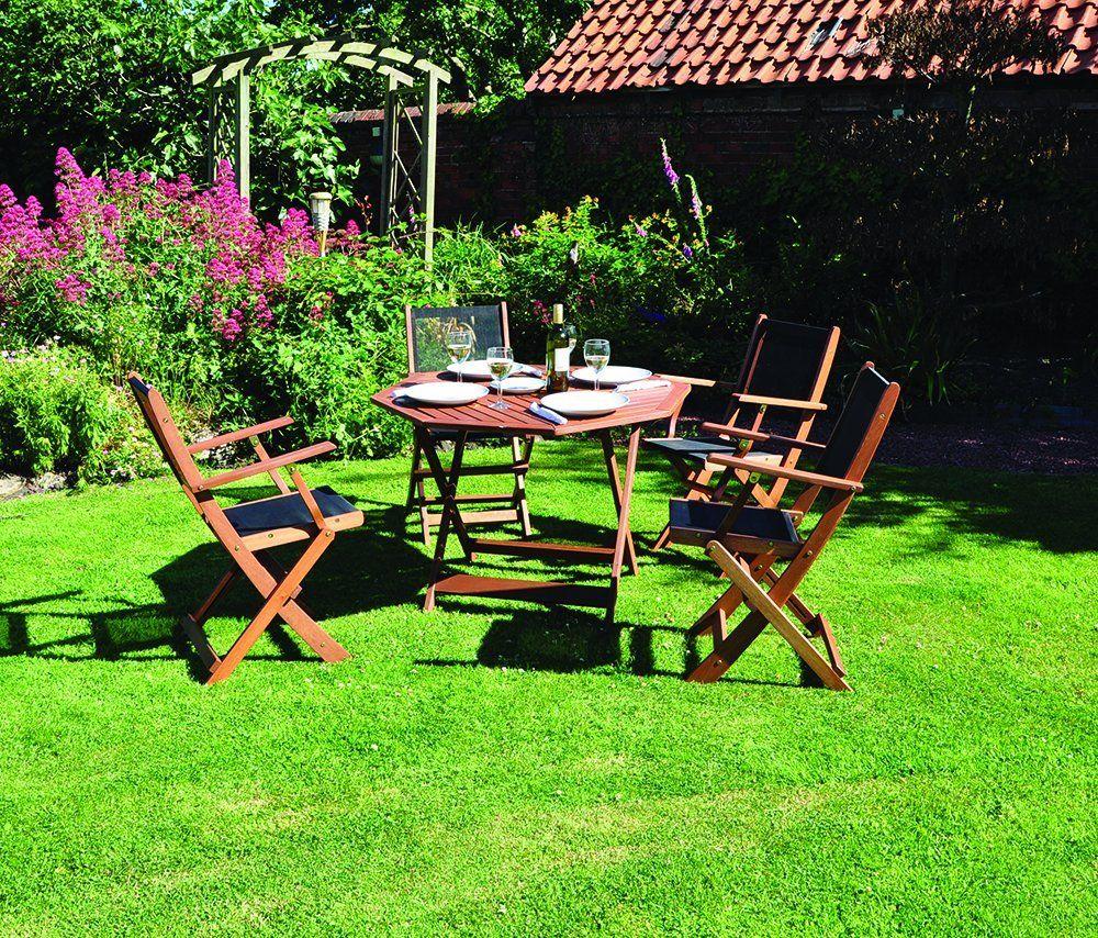 Textoline Garden Furniture Kingfisher fswset8 octangle island textoline wood set brown 5 kingfisher fswset8 octangle island textoline wood set brown 5 piece workwithnaturefo