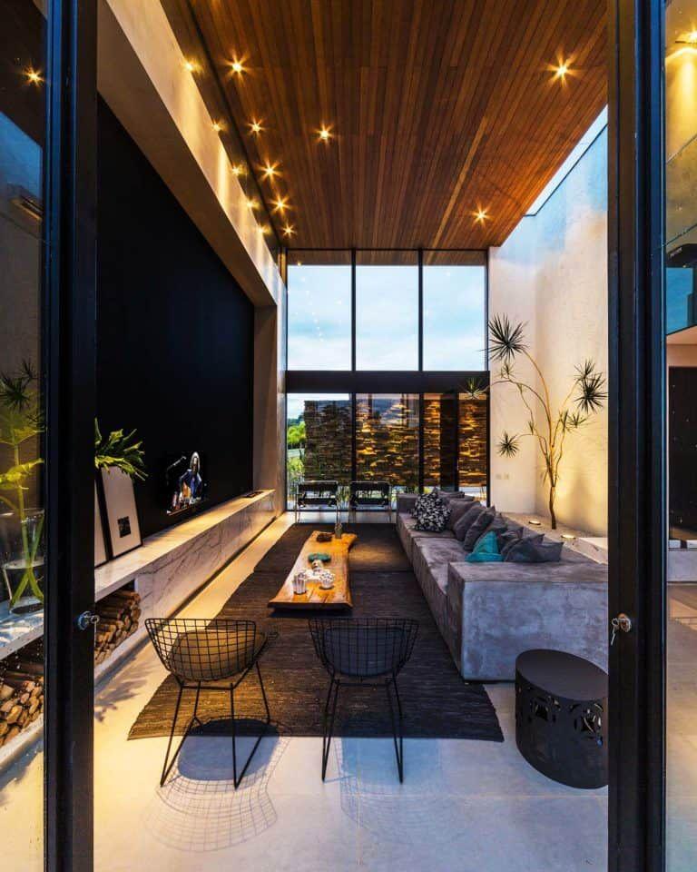 Architecturally Striking Two Story Modern Dwelling In Brazil Interior Design School Best Interior Design Interior Design Colleges